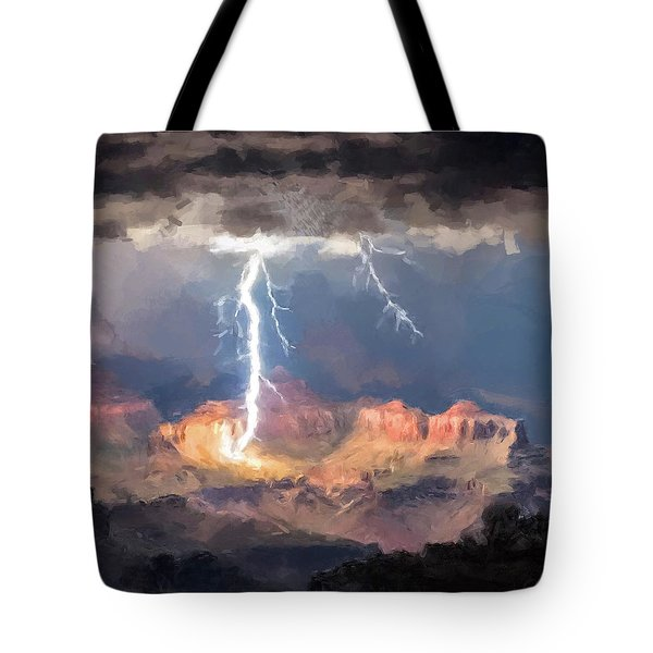 Canyon Storm Tote Bag by Gary Grayson