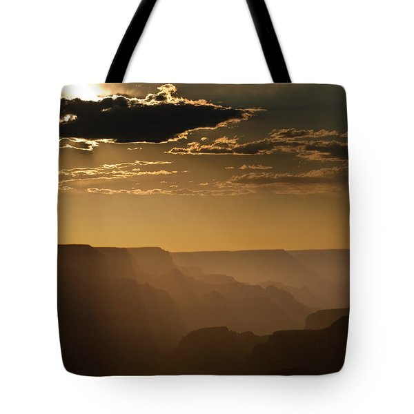 Canyon Strata Tote Bag by Steve Gadomski