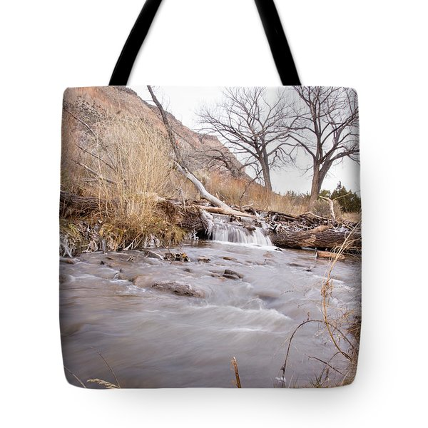 Canyon Stream Falls Tote Bag