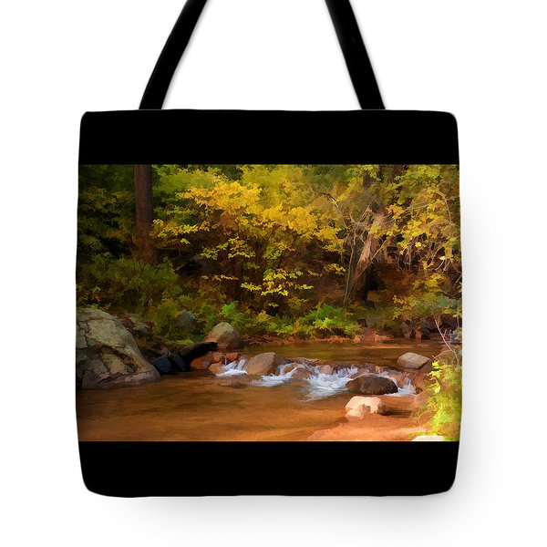 Tote Bag featuring the photograph Canyon Stream In Autumn by Diane Alexander
