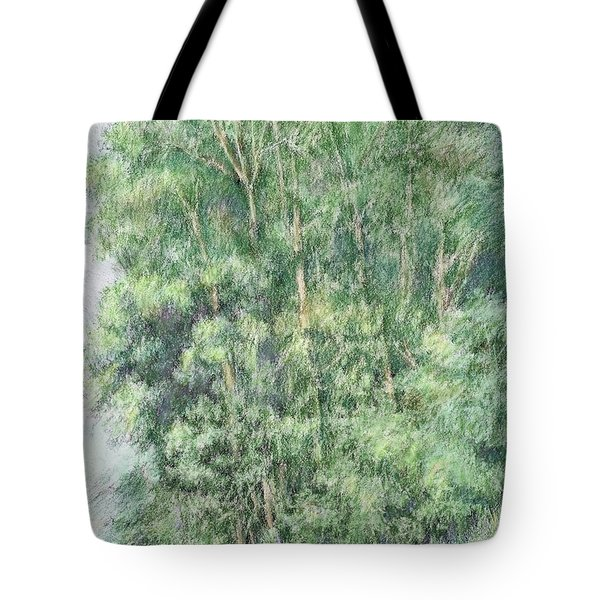 Canyon Trees Colorized Tote Bag