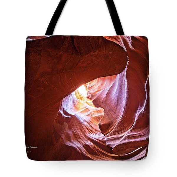 Tote Bag featuring the photograph Canyon Vortex by T A Davies