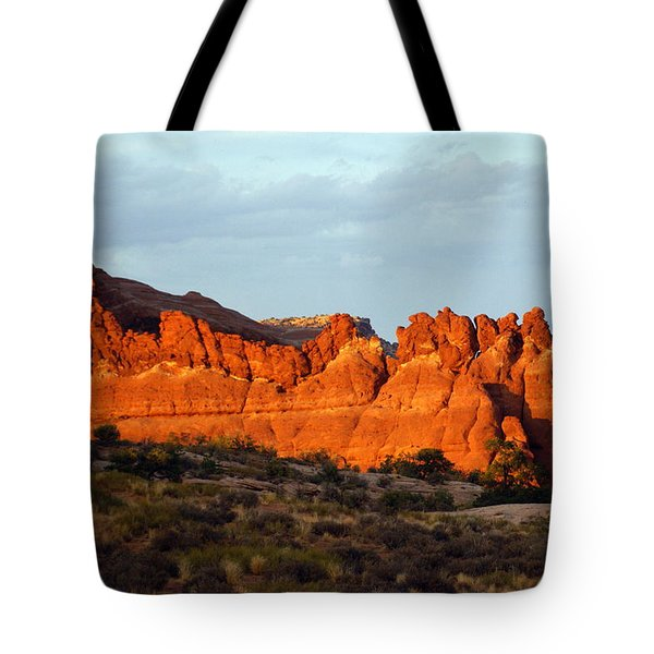 Canyonlands At Sunset Tote Bag by Marty Koch