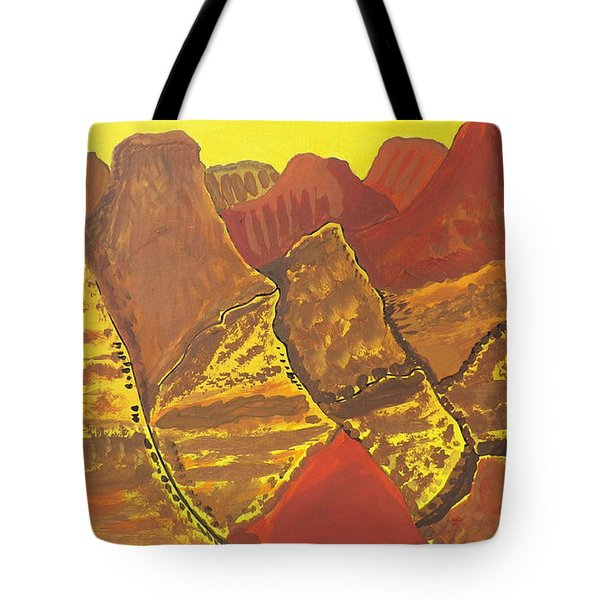 Tote Bag featuring the painting Canyonlands by Don Koester