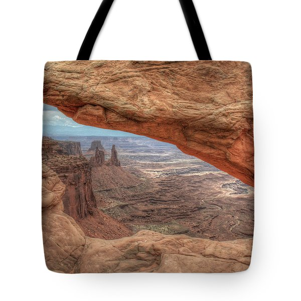 Canyonlands From Mesa Arch Tote Bag
