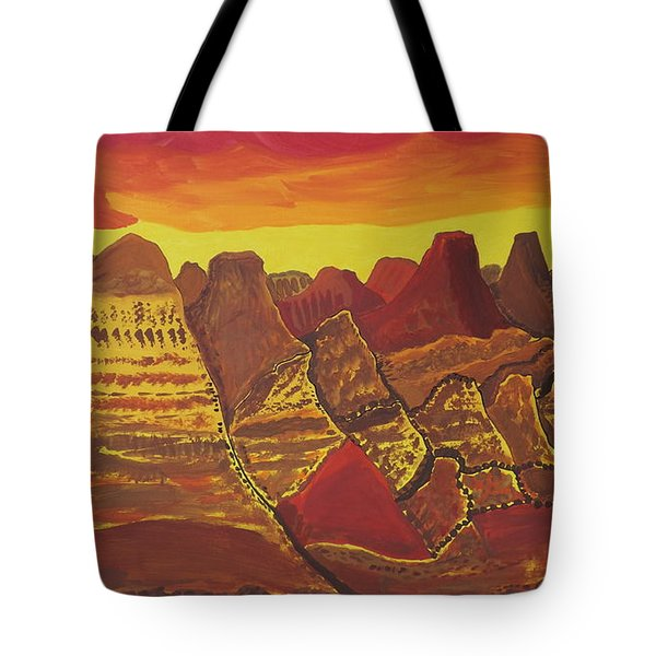 Tote Bag featuring the painting Canyonlands Full Size by Don Koester