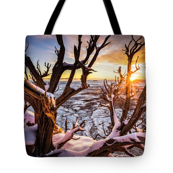 Canyonlands Winter Sunset Tote Bag