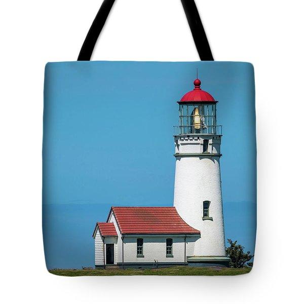 Cape Blanco Lighthouse At Cape Blanco, Oregon Tote Bag