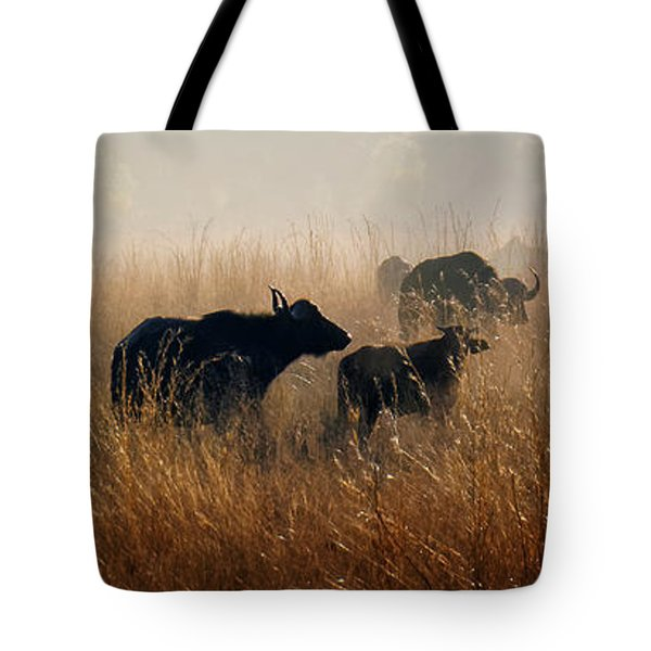 Cape Buffalo Herd Tote Bag by Joe Bonita