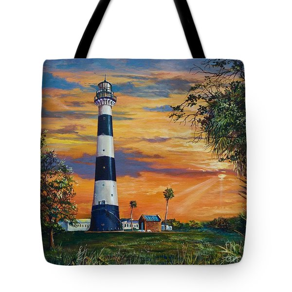 Cape Canaveral Light Tote Bag by AnnaJo Vahle