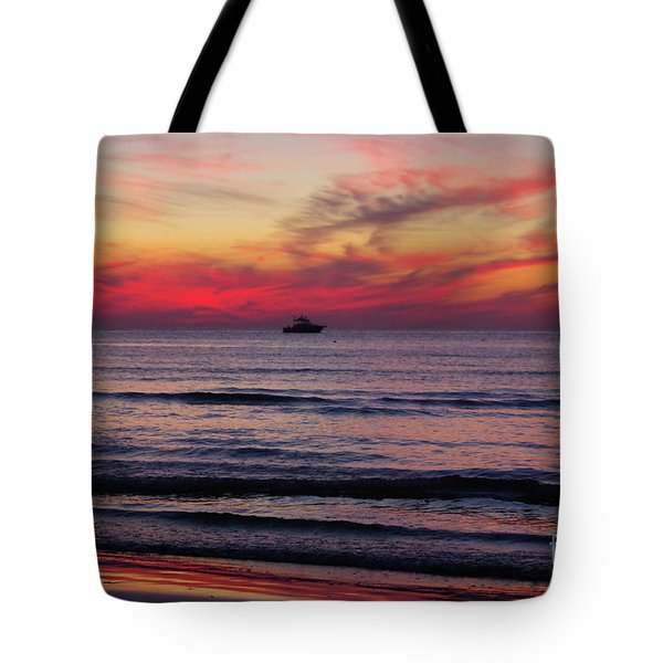 Cape Charles Sunser Tote Bag