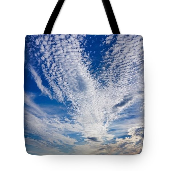 Tote Bag featuring the photograph Cape Clouds by Kendall McKernon