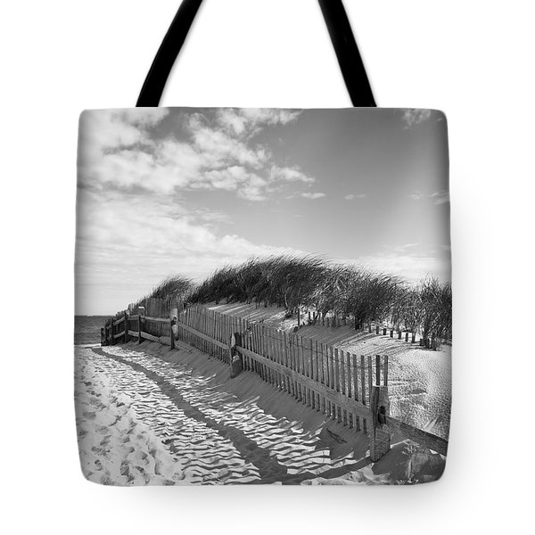 Cape Cod Beach Entry Tote Bag by Mircea Costina Photography