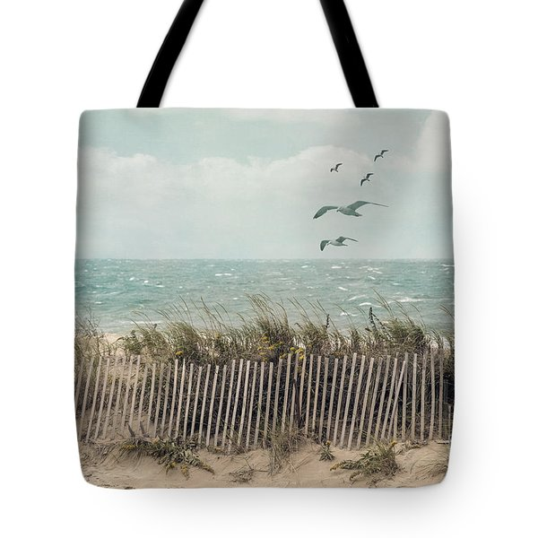 Cape Cod Beach Scene Tote Bag