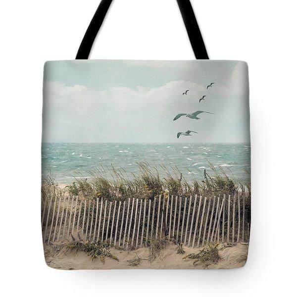 Cape Cod Beach Scene Tote Bag