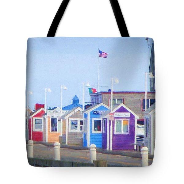 Cape Cod Cabins Tote Bag