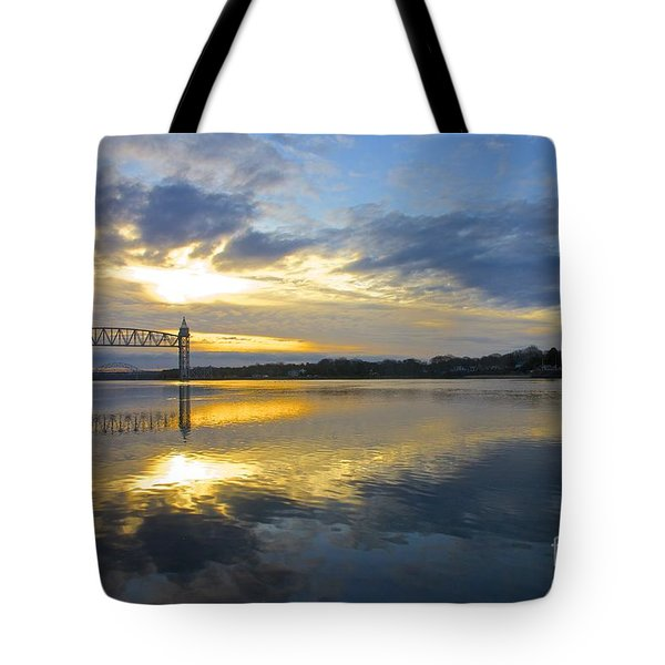 Tote Bag featuring the photograph Cape Cod Canal Sunrise by Amazing Jules