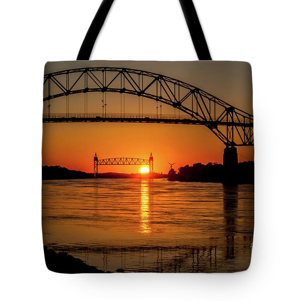 Cape Cod Canal Sunset Tote Bag