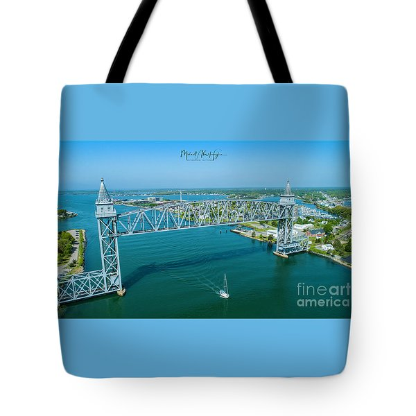 Cape Cod Canal Suspension Bridge Tote Bag