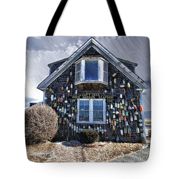 Cape Cod Christmas Bulbs Tote Bag