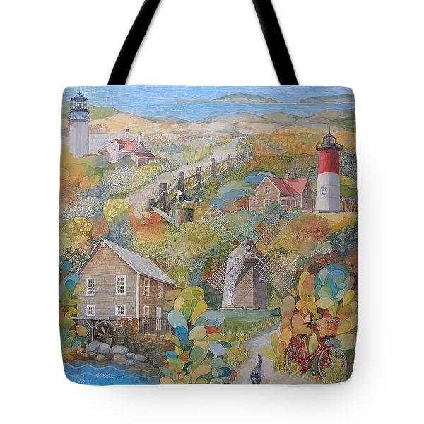 Cape Cod Tote Bag by Ezartesa Art