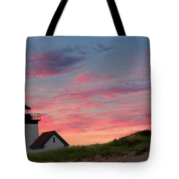 Tote Bag featuring the photograph Cape Cod Long Point Light by Bill Wakeley