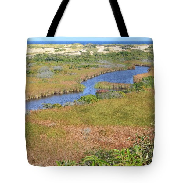 Cape Cod National Seashore Small Swamp Trail Early Autumn Tote Bag by John Burk