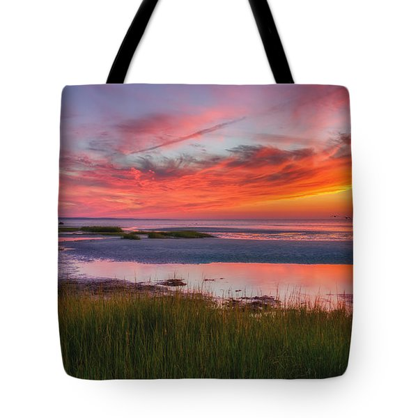Cape Cod Skaket Beach Sunset Tote Bag