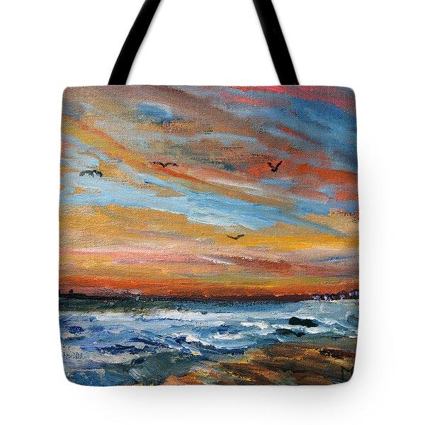 Cape Cod Sunrise Tote Bag