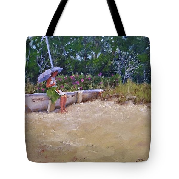 Tote Bag featuring the painting Cape Cod Weekend by Laura Lee Zanghetti