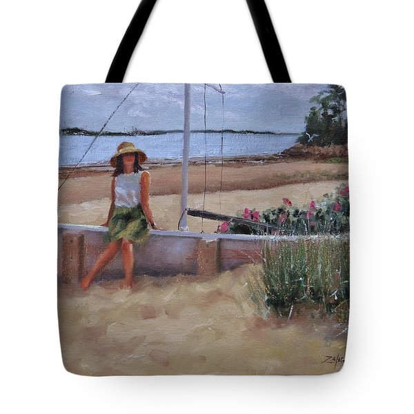 Tote Bag featuring the painting Cape Cod Weekend Two by Laura Lee Zanghetti