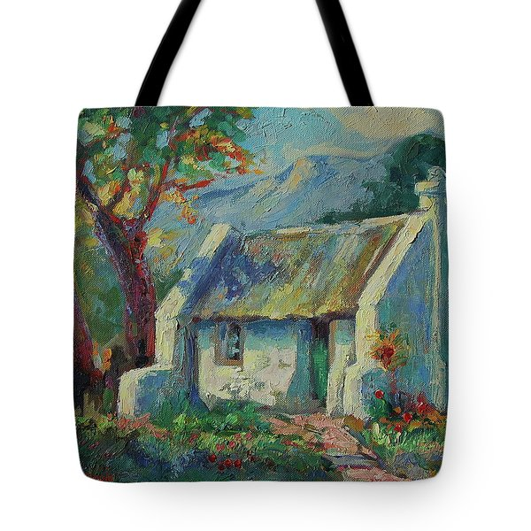 Cape Cottage With Mountains Art Bertram Poole Tote Bag by Thomas Bertram POOLE