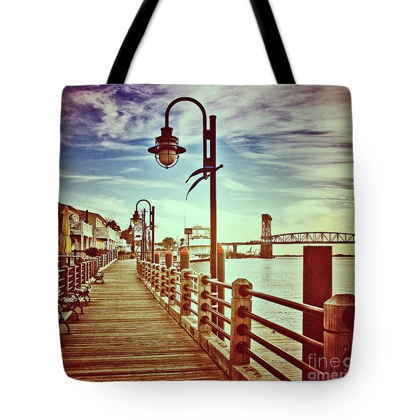 Tote Bag featuring the photograph Cape Fear River Front by Phil Mancuso