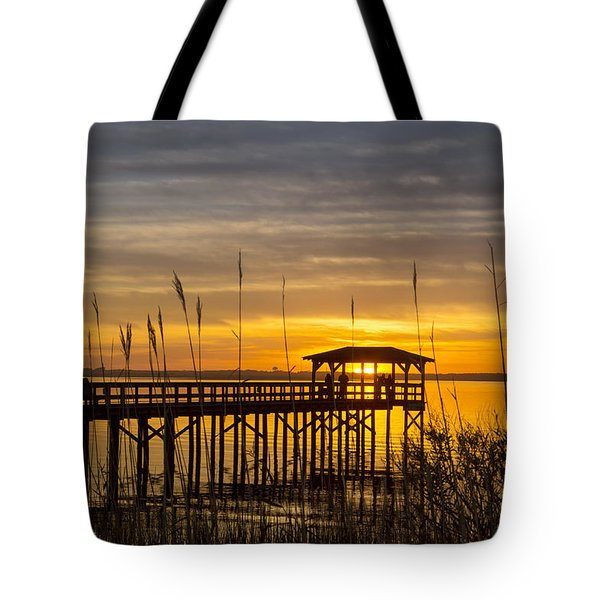 Cape Fear Sunset Fort Fisher Tote Bag