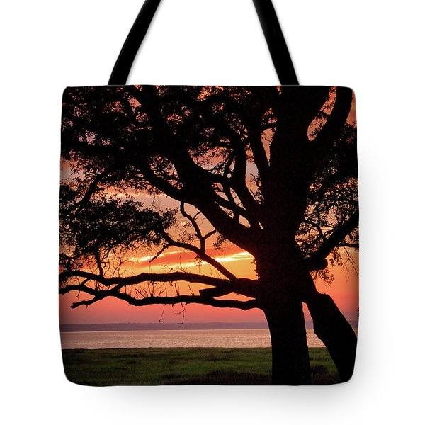 Cape Fear Sunset Overlook Tote Bag