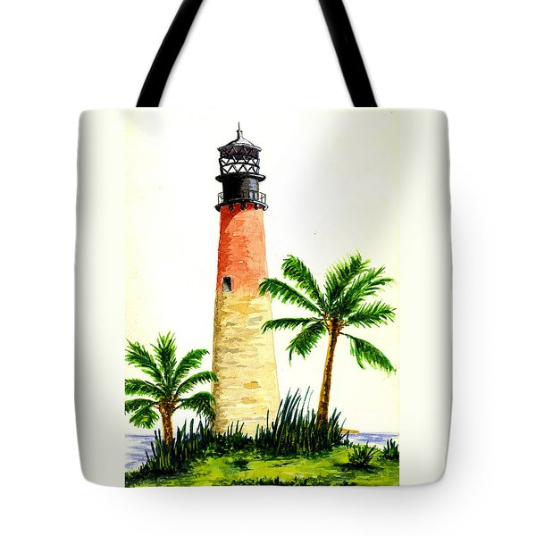Cape Florida Lighthouse Tote Bag by Michael Vigliotti