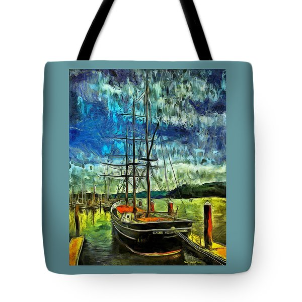 Tote Bag featuring the photograph Cape Foulweather Tall Ship by Thom Zehrfeld