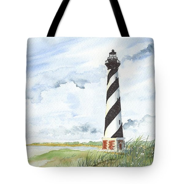 Cape Hatteras Lighthouse Tote Bag by Denise   Hoff