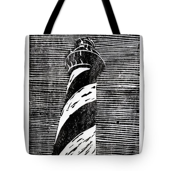 Tote Bag featuring the painting Cape Hatteras Lighthouse II by Ryan Fox