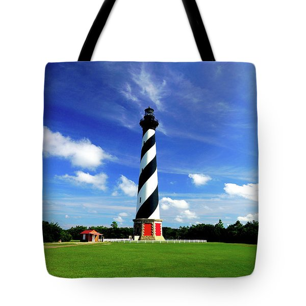 Tote Bag featuring the photograph Cape Hatteras Lighthouse by Meta Gatschenberger