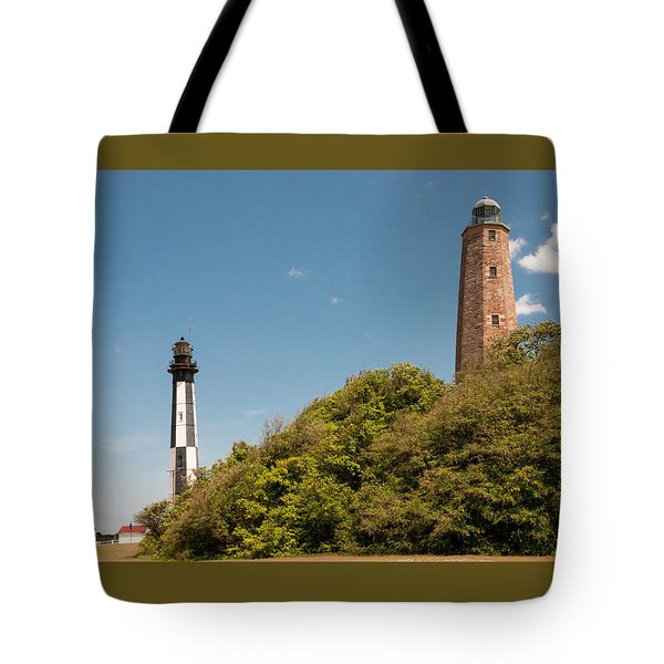 Cape Henry Lighthouses Old And New Tote Bag