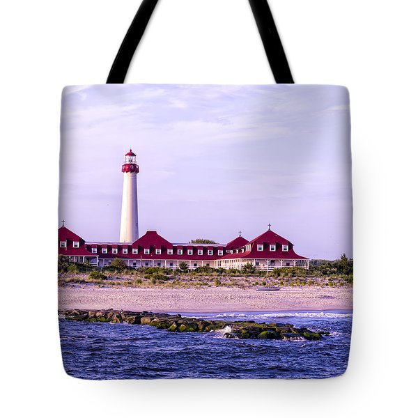 Tote Bag featuring the photograph Cape May Light House by Linda Constant