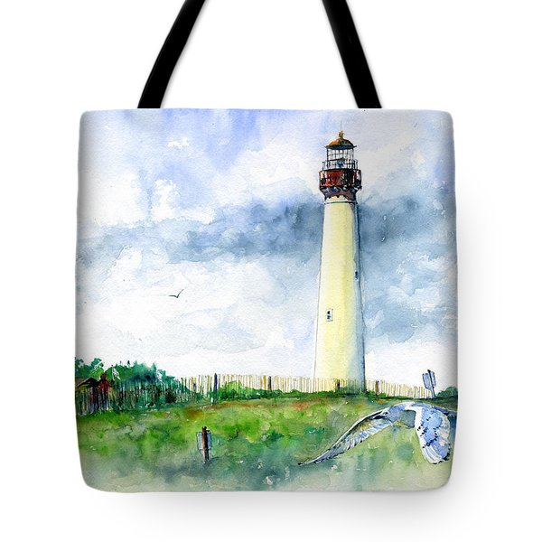 Cape May Lighthouse Tote Bag by John D Benson