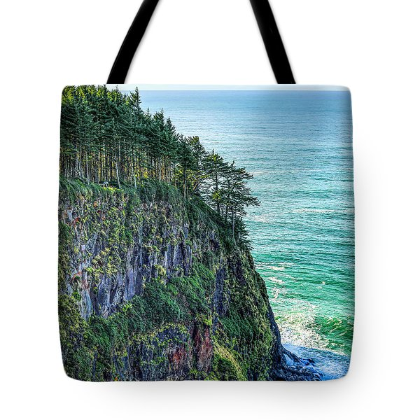 Tote Bag featuring the photograph Cape Meare's Outlook by Dennis Bucklin