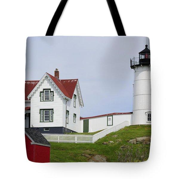 Cape Neddick Light Tote Bag by Luke Moore