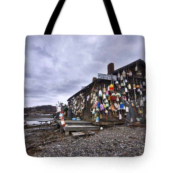 Cape Neddick Lobster Pound Tote Bag by Eric Gendron