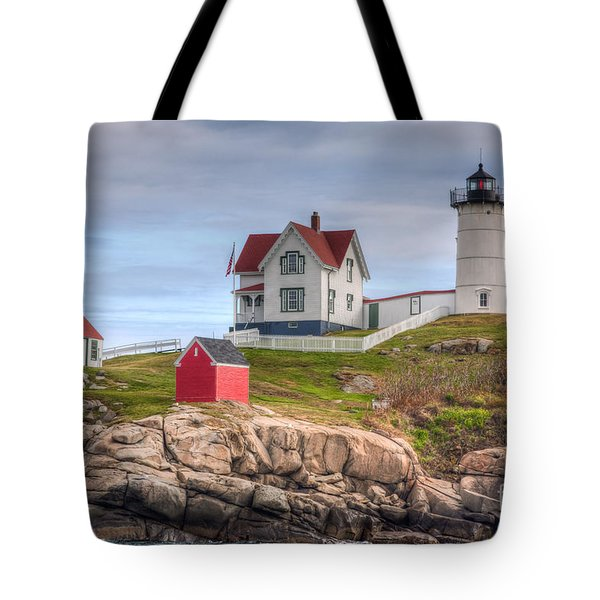 Cape Neddick Nubble Lighthouse I Tote Bag by Clarence Holmes