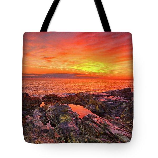 Cape Neddick Sunrise Tote Bag