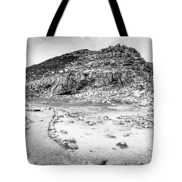 Tote Bag featuring the photograph Cape Of Good Hope Landscape Black And White by Tim Hester