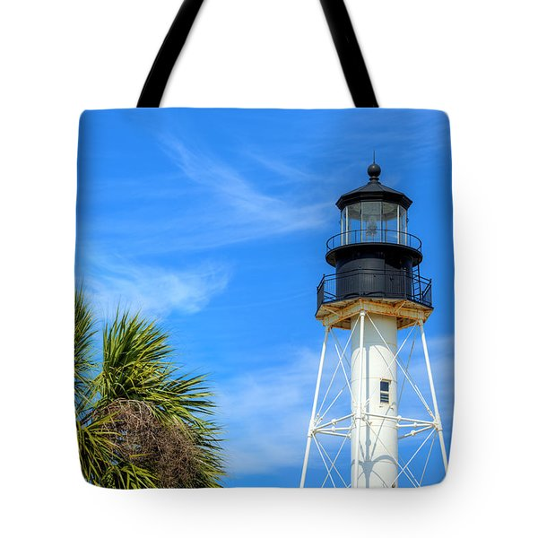 Tote Bag featuring the photograph Cape San Blas Lighthouse by JC Findley